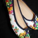 39 разм. Дизайнерские балетки Desigual. Made in Spain верх текстиль, стелька кожа Длина по внутренне