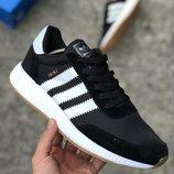 Мужские черные кроссовки adidas iniki 41 42 43 44 размер