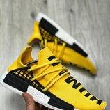 Желтые мужские легкие кроссовки adidas pharrell williams nmd 41 42 43 44 45 размер