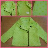 Джинсовая курточка пиджак 6-9 мес
