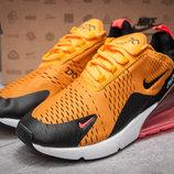 Кроссовки Nike Air Max 270, оранжевые 13425 41,42,43,44,45 размер, скидки, распродажа