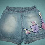 Джинсовые фир.GloriaJeans шорты для девочки 6/7лет,р-116