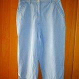 Бриджи джинс 46-48 голубые