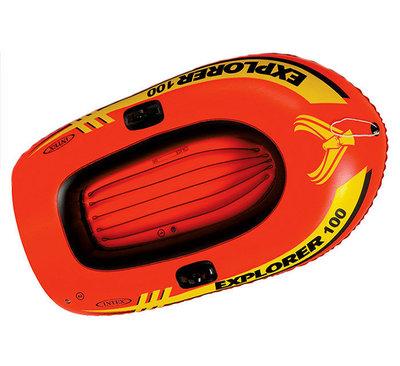 Просторная детская надувная лодка Explorer 200 Intex