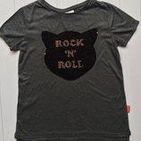 Подростковая футболка с двухсторонними пайетками для девочки Размер 158-164