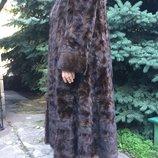 Шуба норковая в пол фирмы zardel furs италия 58-62