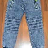 Стильные джинсовые джоггеры. р-ры 116-122,122-128.