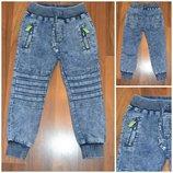 Стильные джинсовые джоггеры. р-р 116-152.