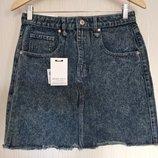 стильная джинсовая юбка размер М
