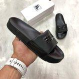 Черные мужские сандали fila disruptor 40 41 42 43 44 размер