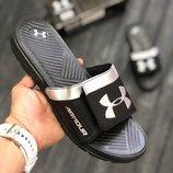 Черные мужские шлепки сандали under armour 40 41 42 43 44 размер