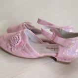 Туфли для девочки нарядные розовые на утренник, праздник, торжество