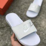 Белые мужские шлепки тапочки nike air 40 41 42 43 44 45 размер