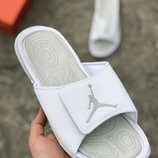 Белые мужские тапочки шлепки nike air jordan 40 41 42 43 44 45 размер