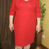 Платье красное размер 20