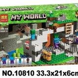 Конструктор Bela Minecraft 10810 Пещера зомби, 250 дет , майнкрафт