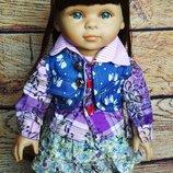 Кукла игровая, реборн, reborn, с длинными волосами, american girls.