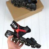 Мужские черные сандали nike air off white 41 42 43 44 45 размер