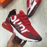 Скидка мужские красные кроссовки nike air max 270 supreme 41 42 43 44 45 размер