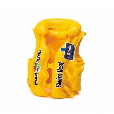 Жилет надувной желтый, винил 3-6 лет , 50 47см., 2 застежки, INTEX, 58660