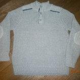 Светло серый свитер F&F на 6-7 лет