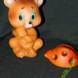 игрушка ссср мишка и божья коровка