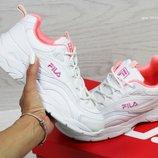 Кроссовки женские Fila Ray white/ pink