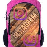 Рюкзак школьный с принтом Инстаграм instagram рюкзак для школы городской рюкзак