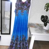 Роскошное длинное платье с оригинальным притом