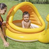 Детский надувной бассейн Intex 57124 Ленивая улитка надувное дно, с навесом