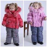 Kiko Кико комбинезон куртка,80,86,92,98,104 зимняя для девочки