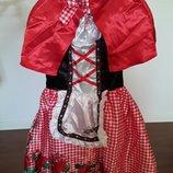 Новогодней костюм Красной шапочки на 7-8лет