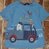 футболка хб Путешественник 2-3года Джорж большой выбор одежды 1-16лет