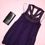 Распродажа стильных летних платьев. платье темно-сливовое. Ax Paris