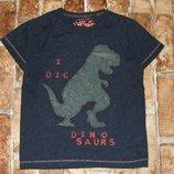 футболка Динозавр 3-4года Некст большой выбор одежды 1-16лет