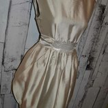 Платье S/M, нарядное платье, коктейльное платье, деловое платье, бежевое платье, нарядный сарафан