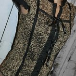 Блуза XS/S, нарядная блуза, женская блуза, леопардовая блуза, блузка, деловая блуза, короткая блузка