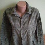 Клетчатая мужская рубашка100 % хлопок 100 грн