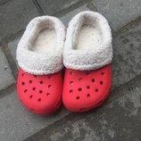 Утеплённые кроксы Crocs оригинал С8-9