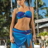 Liliana Marko M-259 раздельный купальник оригинал высокие плавки лиф бандо с пушап