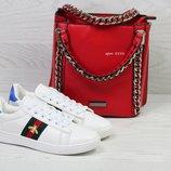 Кроссовки женские Gucci white, 5 цветов
