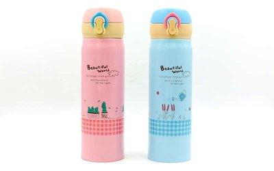 Бутылка для воды термос Beautiful World 2462 2 цвета, объем 450мл