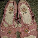 Босоножки нежного пудрово-розового цвета, размер 37, американский бренд earth spirit.