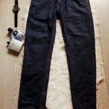 Синие мужские джинсы классические темные черные почти плотные Next