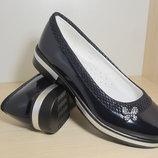 Туфли школьные на девочку синие Bi&ki tom.m арт.bk3630-D р.33-38 туфлі сині шкільні biki бики