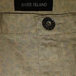 Стильные, модные зауженные книзу брючки River Island, модного пудрового цвета,размер 12.