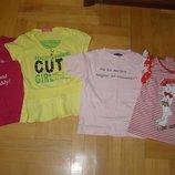 Набор фирменных футболок для девочки 4-5 лет, размер 104