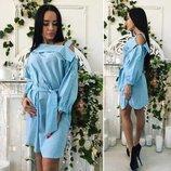 Платье Ткань лен полоска Цвета полоски чёрный, розовый, голубой Размеры 42, 44, 46