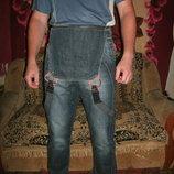 джинсы комбинезон хлопок