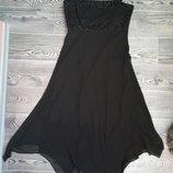 Нарядное платье расшитое бисером завышенная талия на подкладке